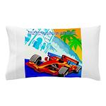 International Grand Prix Auto Racing Print Pillow