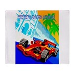 International Grand Prix Auto Racing Print Throw B