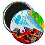 International Grand Prix Auto Racing Print Magnets