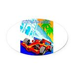 International Grand Prix Auto Racing Print Oval Ca