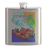 International Grand Prix Auto Racing Print Flask