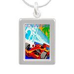 International Grand Prix Auto Racing Print Necklac