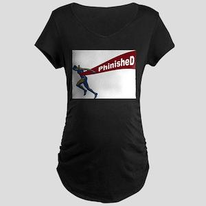 Phinished Maternity Dark T-Shirt