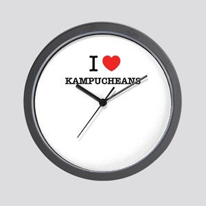 I Love KAMPUCHEANS Wall Clock