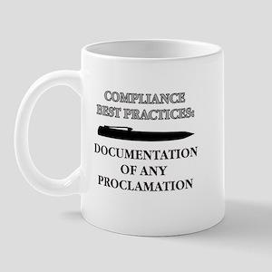 Compliance Documentation Mug