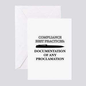 Compliance Documentation Greeting Cards (Pk of 10)