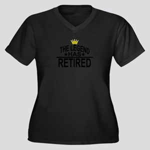 THE LEGEND HAS RETIRED FUNNY SHI Plus Size T-Shirt