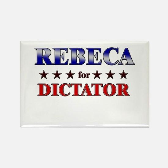 REBECA for dictator Rectangle Magnet