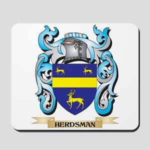 Herdsman Coat of Arms - Family Crest Mousepad