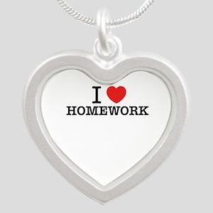 I Love HOMEWORK Necklaces