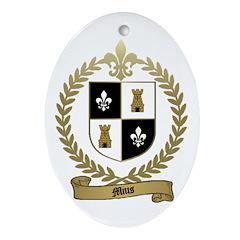MIUS Family Crest Oval Ornament