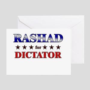 RASHAD for dictator Greeting Card
