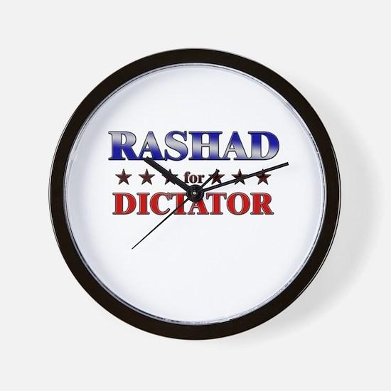 RASHAD for dictator Wall Clock