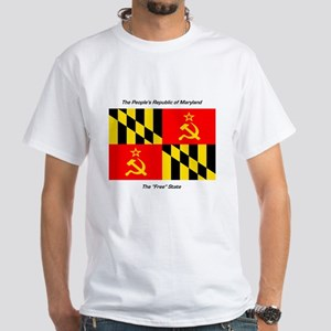People's Republic of Maryland White T-Shirt