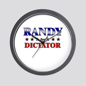 RANDY for dictator Wall Clock