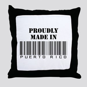 made in Puerto Rico Throw Pillow