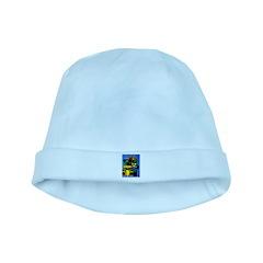 Grand Prix Auto Racing Print baby hat