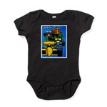 Grand Prix Auto Racing Print Baby Bodysuit