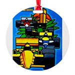 Grand Prix Auto Racing Print Round Ornament