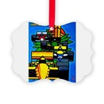 Grand Prix Auto Racing Print Picture Ornament