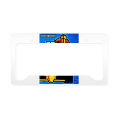 Grand Prix Auto Racing Print License Plate Holder
