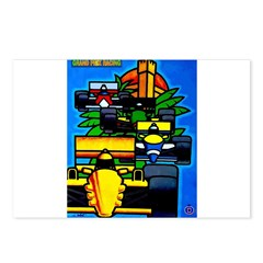 Grand Prix Auto Racing Print Postcards (Package of