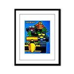 Grand Prix Auto Racing Print Framed Panel Print