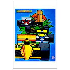 Grand Prix Auto Racing Print Poster