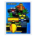 Grand Prix Auto Racing Print Small Poster