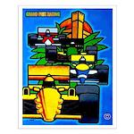 Grand Prix Auto Racing Print Small Poster