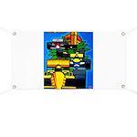 Grand Prix Auto Racing Print Banner