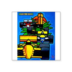 Grand Prix Auto Racing Print Sticker