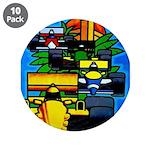 "Grand Prix Auto Racing Print 3.5"" Button (10 pack)"