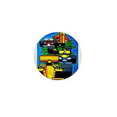 Grand Prix Auto Racing Print Mini Button
