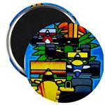 Grand Prix Auto Racing Print Magnets
