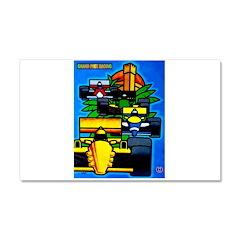 Grand Prix Auto Racing Print Car Magnet 20 x 12