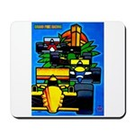 Grand Prix Auto Racing Print Mousepad