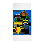 Grand Prix Auto Racing Print Beach Towel