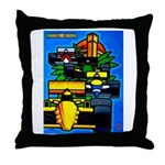 Grand Prix Auto Racing Print Throw Pillow