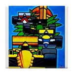 Grand Prix Auto Racing Print Tile Coaster