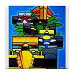 Grand Prix Auto Racing Print Tile Coaster