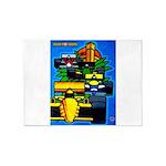 Grand Prix Auto Racing Print 5'x7'Area Rug