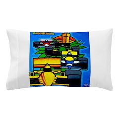 Grand Prix Auto Racing Print Pillow Case
