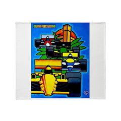 Grand Prix Auto Racing Print Throw Blanket
