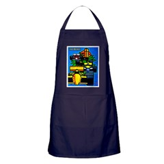 Grand Prix Auto Racing Print Apron (dark)