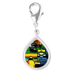 Grand Prix Auto Racing Print Charms
