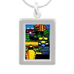 Grand Prix Auto Racing Print Necklaces