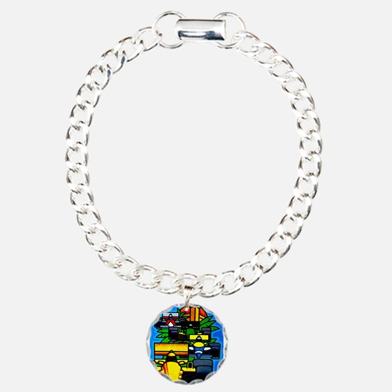 Grand Prix Auto Racing Print Bracelet