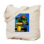 Grand Prix Auto Racing Print Tote Bag
