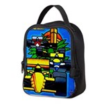 Grand Prix Auto Racing Print Neoprene Lunch Bag